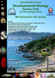 International Course on Developmental Biology, Quintay, Chile 2012