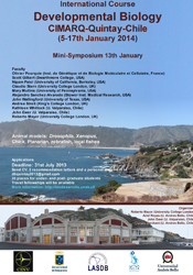 International Course on Developmental Biology, Quintay, Chile 2014